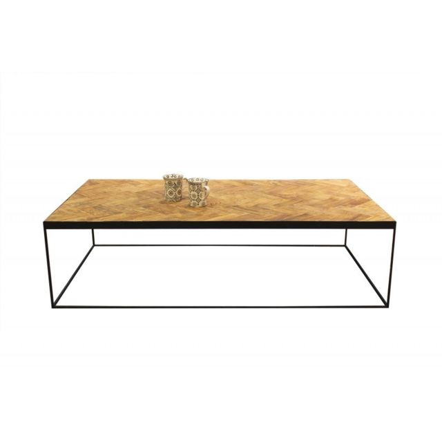 Meubletmoi Table basse rectangulaire en teck - Anna/L
