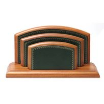 Volumica - Porte-lettres/courrier Bois style Cuir Vert Collection Trianon