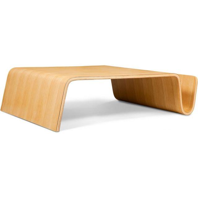 Privatefloor Table basse porte magazines grande bois aurica Valentino Boretti