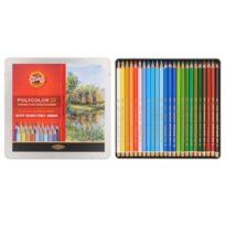 Koh-I-Noor - Polycolor Coffret De 24 Crayons De Couleur D'ARTISTE Pour Paysage