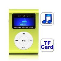 Wewoo - Lecteur Mp3 vert de carte Tf Micro Sd Mp3 avec écran Lcd, clip en métal clair
