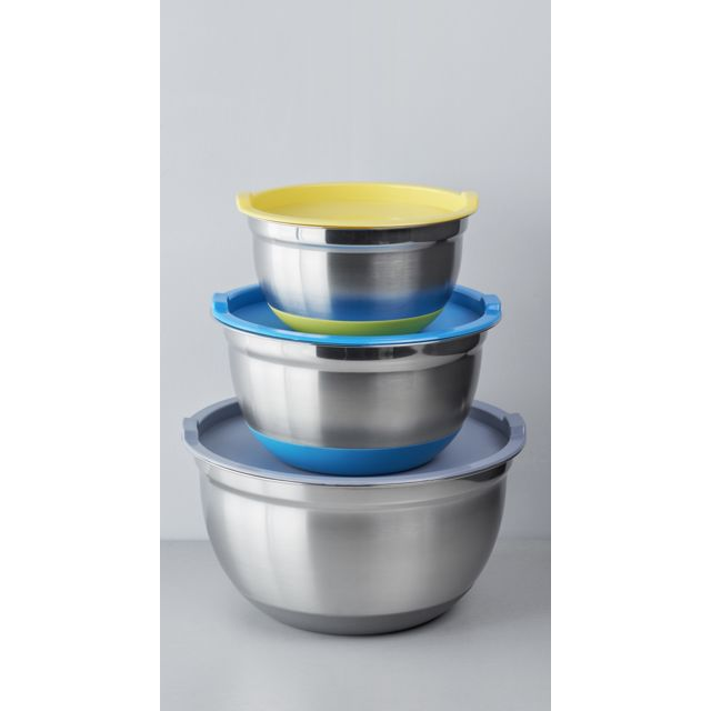 CARREFOUR HOME LES PETITES COLLECTIONS - Lot de 3 bols pâtissiers avec couvercle