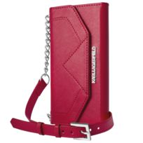 Karl Lagerfeld - Clutch Classic Rouge Pour Apple Iphone 6+/6s