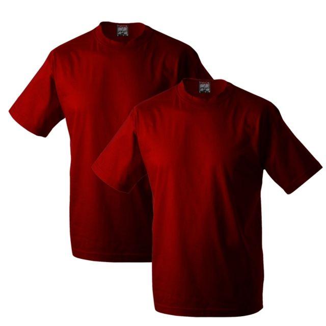 ADAMO Pack de 2 t-shirt rouge