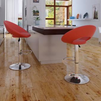 Rocambolesk - Superbe Lot de 2 tabourets rouge design moderne Neuf