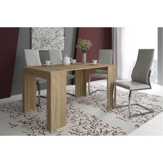 Table Chene Clair Avec Rallonge: Table Console Extensible + Rallonges,jusqu'à 140