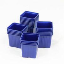 Soparco - Godet pour semis 8 x 8 x 7 cm Bleu-f x 50