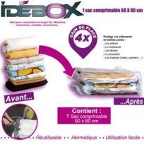Idebox - Sac de rangement comprimable 60x80 cm