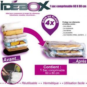 idebox sac de rangement comprimable 60x80 cm pas cher. Black Bedroom Furniture Sets. Home Design Ideas