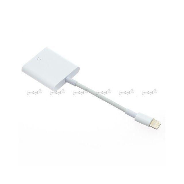 Cable Adaptateur Lightning Vers Lecteur Carte Sd Pour Transfert Photo Video 246 Pas Cher Achat Vente Cable Lightning Rueducommerce