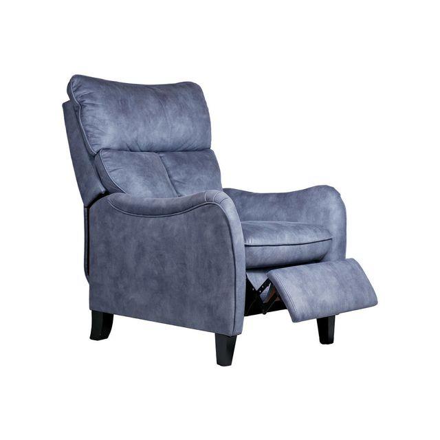 House Bay Fauteuil de relaxation manuel en tissu Pego - Bleu