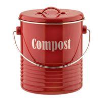 Typhoon - Composteur en aluminium avec couvercle et filtre charbon 2.5L Vintage Kitchen