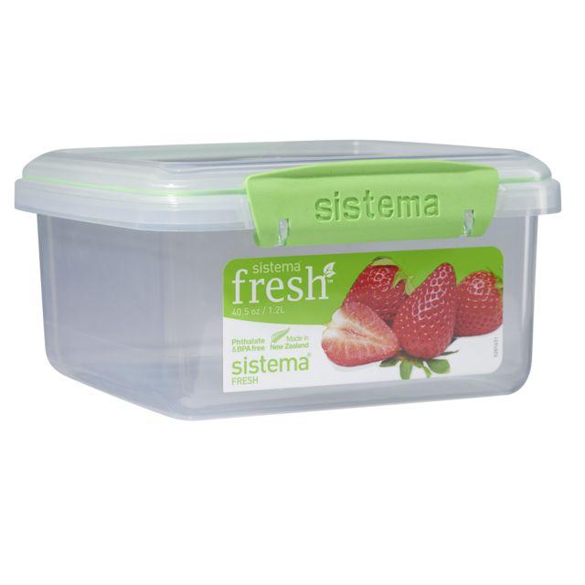 SISTEMA Boîte alimentaire rectangulaire à clips 1,2 L