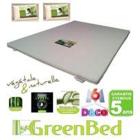 Greenbed - pack confort SurMatelas Viscogreen + 2 oreillers a mémoire de forme Grand Confort! Confort inégalé Soft et respirant Enveloppe Viscose de bambou Déhoussable et lavable en machine Soulagez votre corps ! Un Sommeil réparateur naturel. Découvrez la sensati