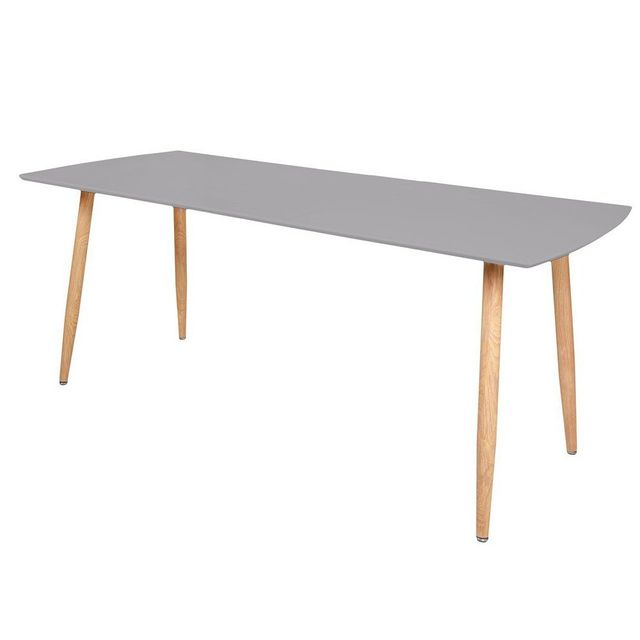 Inside 75 Table repas extensible design scandinave Rio 140 80 cm grise de 6 à 10 couverts