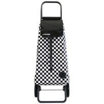 Rolser - mou122fdos - poussette de marché 2 roues 59l noir et blanc Mountain