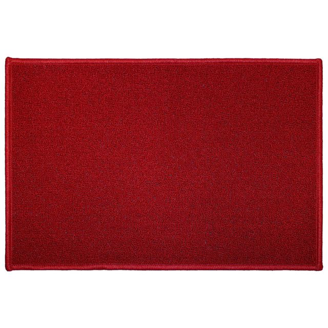 Tapis Deco Cdaffaires rectangle 40 x 60 cm uni primo Rouge