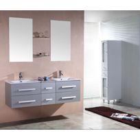 Meuble salle de bain gris - catalogue 2019 - [RueDuCommerce - Carrefour]