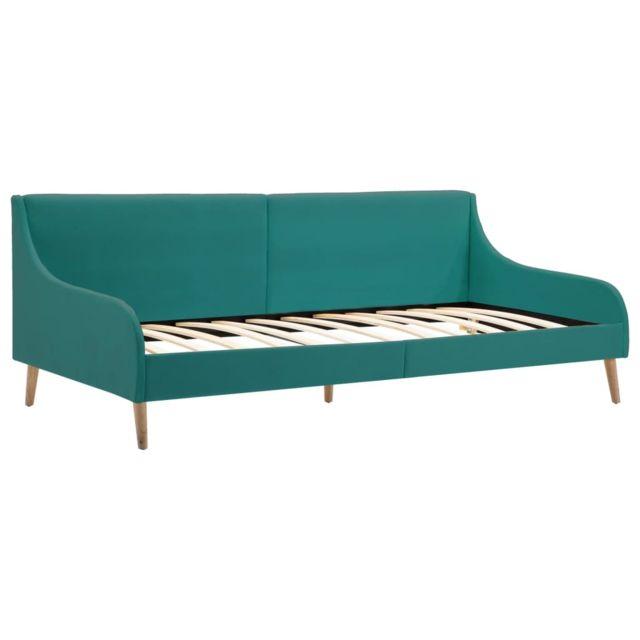 Icaverne - Canapés serie Cadre de lit de jour Tissu Vert