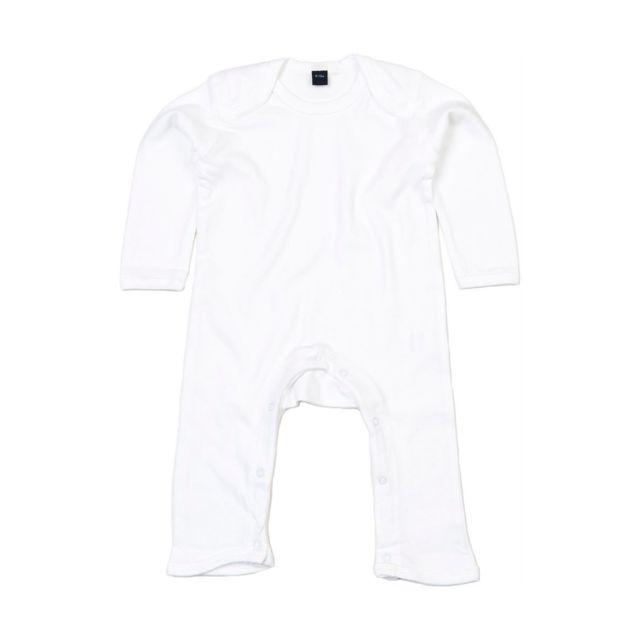 Babybugz - Barboteuse body bébé jambes manches longues - Bz13 - blanc 8880d910c6f