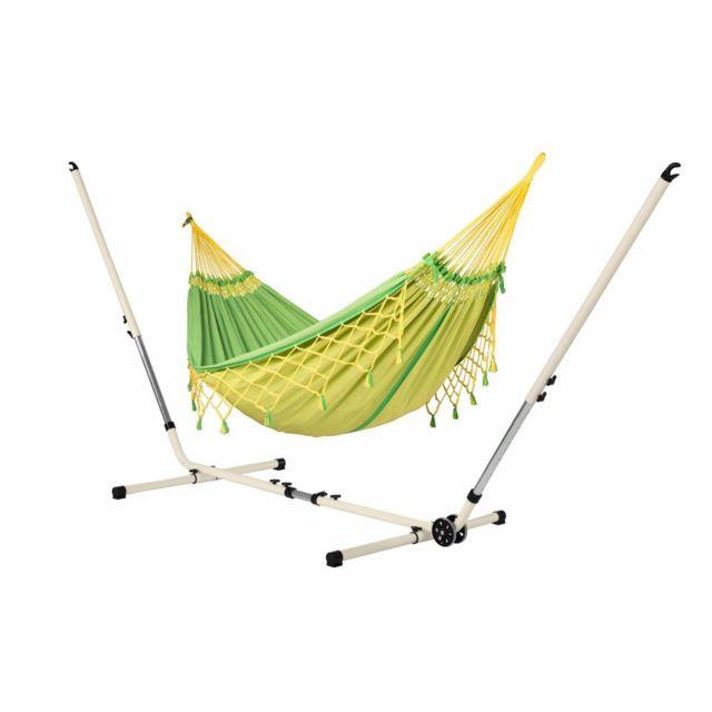 la siesta copa canarinha hamac double avec support. Black Bedroom Furniture Sets. Home Design Ideas