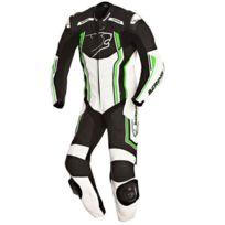 Bering - combinaison moto Supra-r cuir homme entrainement et Pro noir-vert Bcc039 2XL 50-52 Fr