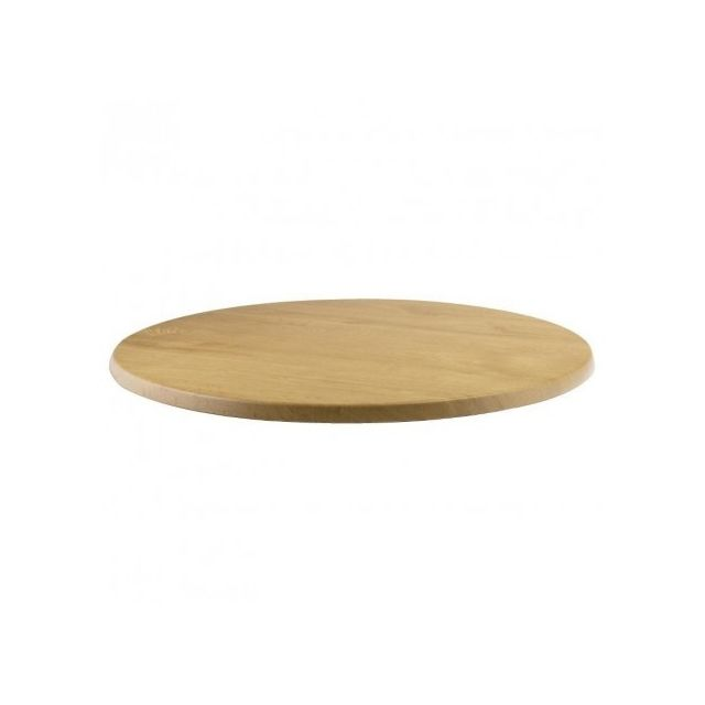 Werzalit-plus Plateau de table rond imitation chêne 600 mm Werzalit - Chêne 600 Ø, mm - Cc515