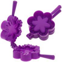 Promobo - Emporte pièce Fabrique à Chausson Moule Cuisine Forme Fleur Violet