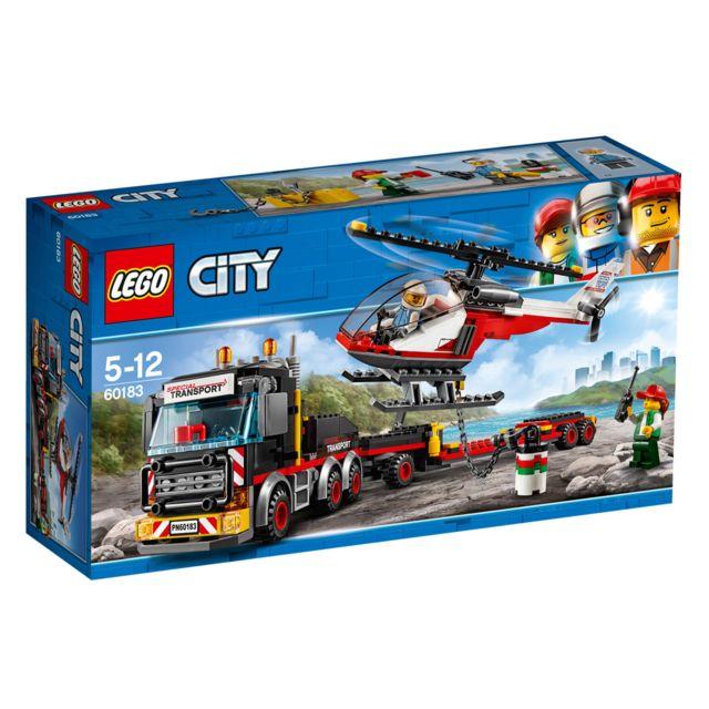 lego city le transporteur d 39 h licopt re 60183 pas cher achat vente lego rueducommerce. Black Bedroom Furniture Sets. Home Design Ideas