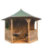 Habrita - Pavillon de Jardin Octogonal de Luxe Chopin 9.60 m² 8 Faces