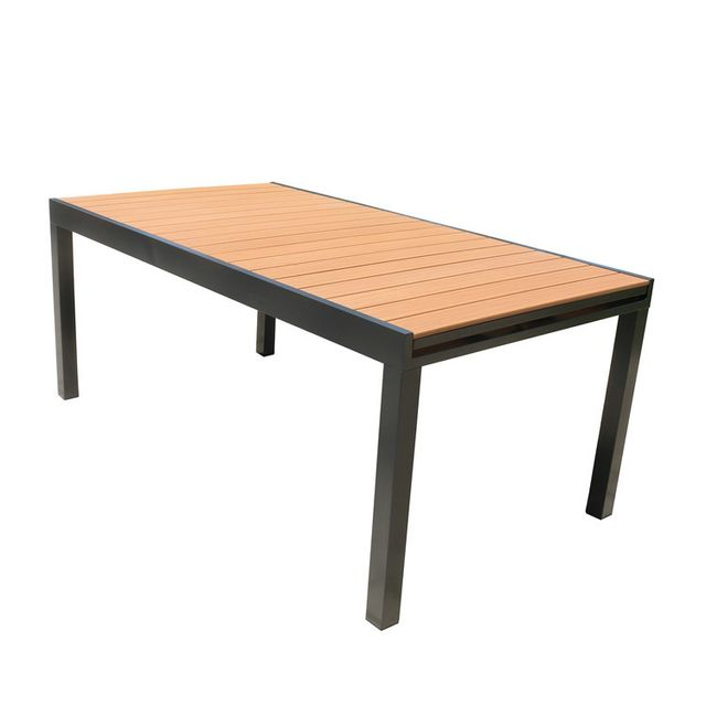 Axe Design - Table de jardin extensible en aluminium et composite ...
