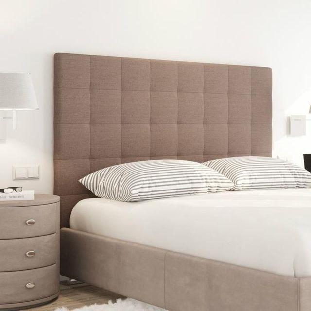 aucune sogno tete de lit tissu capitonn e 160 cm marron pas cher achat vente t tes de. Black Bedroom Furniture Sets. Home Design Ideas