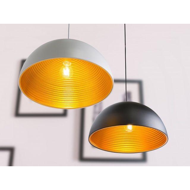Beliani Lampe de plafond - rond - luminaire noir - Grand
