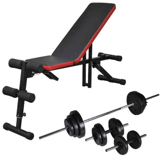 vidaXL 2X Halt/ère 30,5 kg Fitness Exercice Musculation Poids Entra/înement