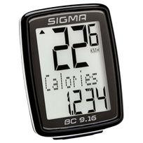 Sigma Sport - Bc 9.16 - Compteur sans fil - connecté par cable noir