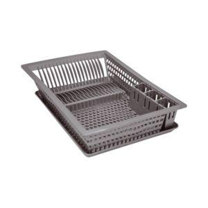 aluminium et plastique egouttoir vaisselle plateau 48x35 5 cm gris pas cher achat. Black Bedroom Furniture Sets. Home Design Ideas