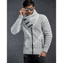 Beststyle - Gilet homme en laine gris
