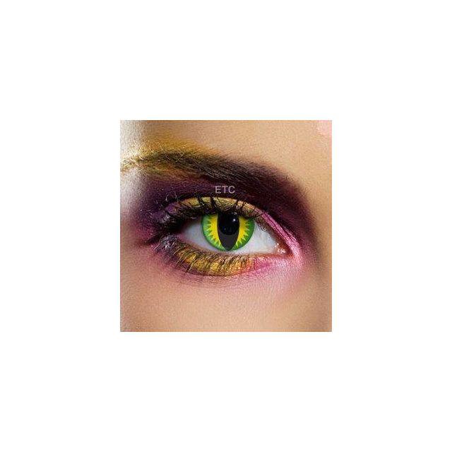 aac7a9ab4938b9 Edit - Lentilles couleur fantaisie sans correction - Dragon Vert - pas cher  Achat   Vente Maquillage de fête - RueDuCommerce