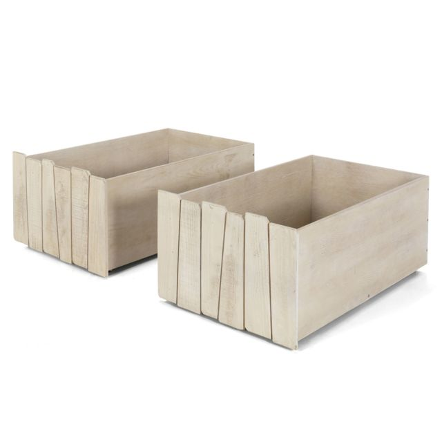 Alinéa Woody Wood Tiroirs De Rangement Blancs Pour Lit Cabane - Lit cabane woody wood alinea