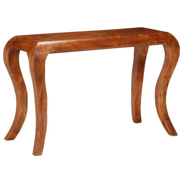 Vidaxl Table Console Bois d'Acacia Massif et Finition en Sesham Table Appoint