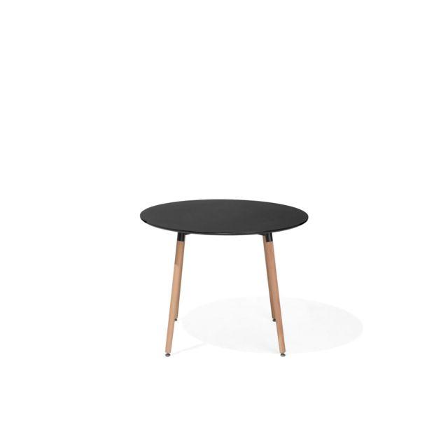 BELIANI Table de salle à manger noire 90 cm BOVIO - noir