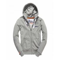 Superdry - Sweat zippé à capuche Orange Label