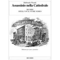 Ricordi - Pizzetti I Assassinio Nella Cattedrale - Chant, Piano
