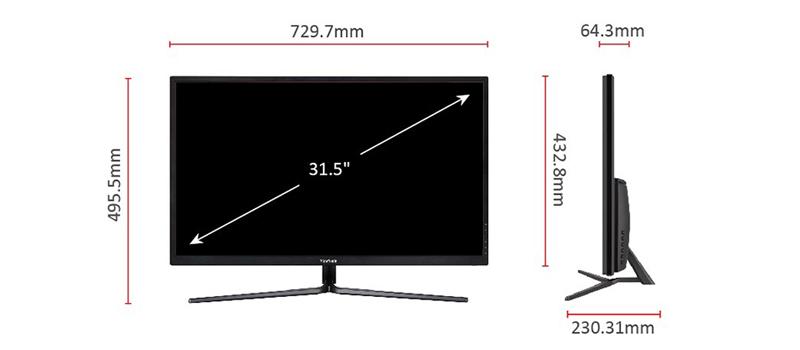 32'' LCD VX3211-4K-MHD
