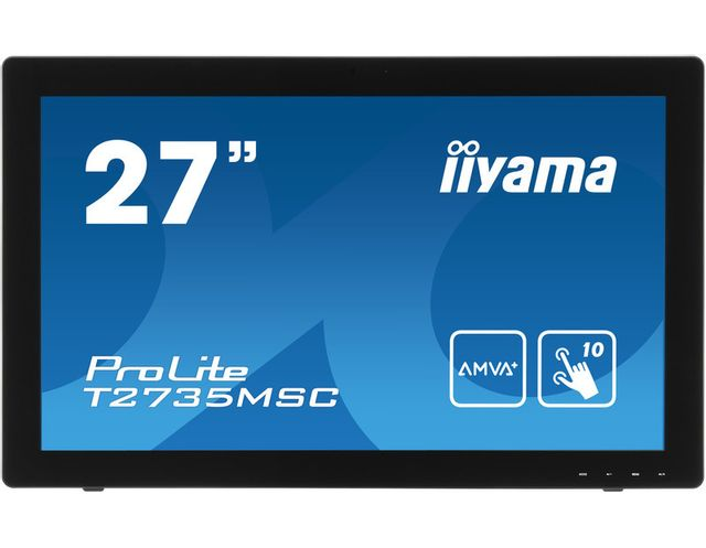 IIYAMA T2735MSC-B2 T2735MSC-B2 Ecran Tactile 27 pouces LED AMVA 5 ms Full HD 1920 x 1080 300 cd/m² VGA/DVI/HDMI/USB Haut-Parleur 2 x 2 W