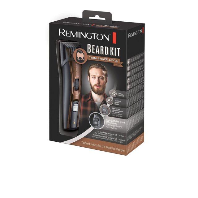 REMINGTON Kit tondeuse barbe - MB4045 - Lames revêtement Titanium- Lames auto-affûtées- Tondeuse escamotable- Molette de réglage (9 hauteurs )- Guide de coupe ajustable XL (20 à 35mm)- Guide de coupe ajustable court (1.5 &