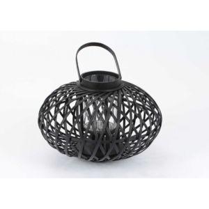 amadeus lanterne boule 44 cm en osier noir pas cher achat vente bougeoirs chandeliers. Black Bedroom Furniture Sets. Home Design Ideas