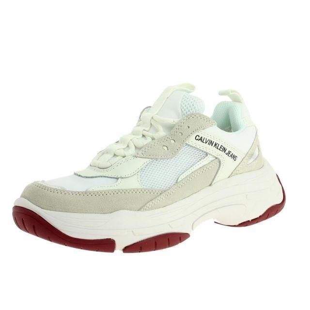 Calvin Klein - Maya femme jeans r0802 Blanc - pas cher Achat   Vente Baskets  femme - RueDuCommerce 4709f313adab