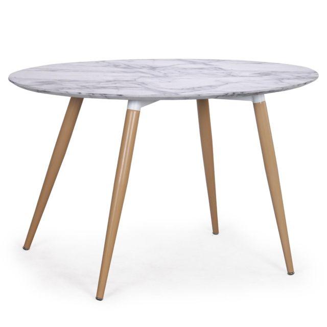 ovale scandinave Sissi Marbre effet Table hdQCtsBrx