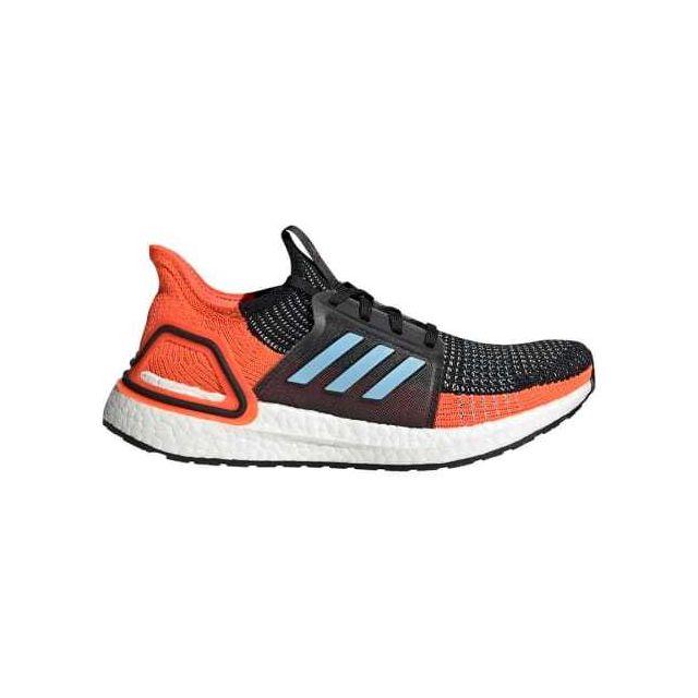 Adidas Chaussures Ultraboost 19 bleu orange noir femme